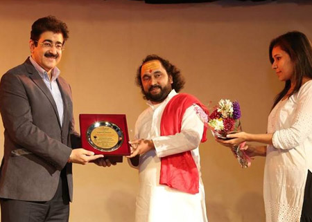 Sandeep Marwah Honored For Yoga Promotions