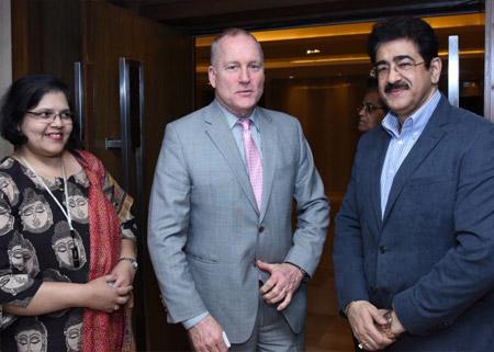 Sandeep Marwah With Joseph D Burke Deputy Secretary USA